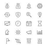 El negocio enrarece iconos stock de ilustración