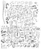 El negocio garabatea la tinta eps10 del bosquejo Foto de archivo