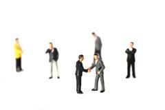 El negocio modelo figura B Imagenes de archivo