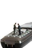 El negocio modelo figura el teléfono B Imagen de archivo libre de regalías