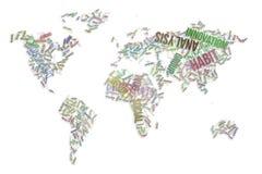 El negocio redacta la nube, el papel pintado o el fondo de la textura Concepto, colorido, mundo y ilustraciones stock de ilustración