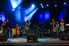 El Negro in Concert Stock Image