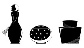 El negro del perfume Fotografía de archivo libre de regalías