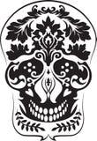 El negro hojea cráneo Fotografía de archivo libre de regalías