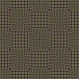 El negro inconsútil y el esquema geométrico del art déco del oro modelan vector imagen de archivo