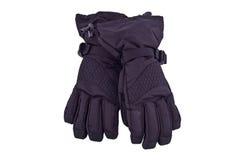 El negro se divierte guantes Foto de archivo libre de regalías