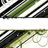 El negro verde raya el fondo del copyspace Imagen de archivo