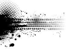 El neumático de Grunge sigue el fondo Imagen de archivo libre de regalías