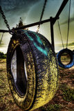 El neumático embroma el juego Fotos de archivo