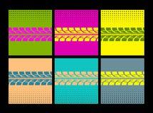 El neumático sigue vector Fotografía de archivo libre de regalías