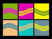 El neumático sigue vector Imagen de archivo libre de regalías