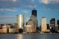 El New York City w céntrico la torre de la libertad Imagenes de archivo