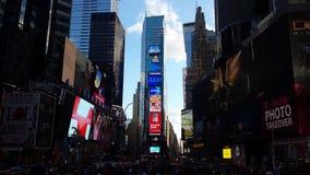 El newyork de Timesquare enciende edificios del fin de semana fotografía de archivo libre de regalías