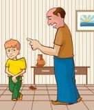 El niño culpable stock de ilustración
