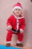 El niño de risa Papá Noel Imágenes de archivo libres de regalías