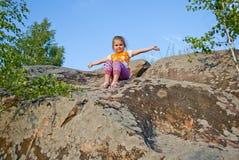 El niño en la naturaleza Fotografía de archivo