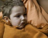 El niño enfermo Imágenes de archivo libres de regalías