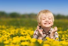 El niño feliz Fotos de archivo