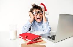 El niño frenético está expresando rabia Imagen de archivo libre de regalías
