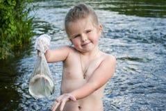 El niño ha pescado Fotografía de archivo