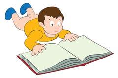 El niño leyó Imágenes de archivo libres de regalías