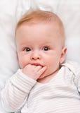 El niño pensativo Foto de archivo