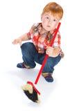 El niño pequeño con los juguetes Fotografía de archivo libre de regalías