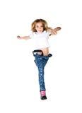 El niño salta Imagen de archivo libre de regalías