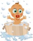 El niño tiene gusto de lavarse Imágenes de archivo libres de regalías