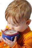 El niño y el tiempo Imagen de archivo libre de regalías