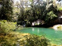 El Nicho ¨Cristal Pools¨. El Nicho is a veritable paradise and one of the best places in the world to slow down and simply enjoy the sights and sounds of Stock Photography