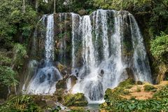 El Nicho waterfall, in Scambray mountains. Royalty Free Stock Images