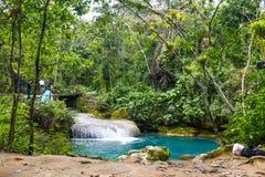 El Nicho Waterfalls, Cuba. Beautiful lagon, El Nicho Waterfalls, Cuba Royalty Free Stock Photography