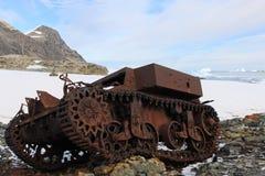 El único tanque en Ant3artida Imagen de archivo