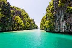 El Nido盐水湖,菲律宾 库存照片