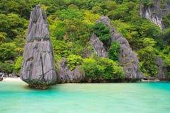 El Nido风景  Palawan海岛 菲律宾 免版税图库摄影