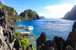 El Nido,菲律宾海滩  库存照片