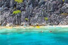 El Nido,菲律宾海滩  免版税图库摄影