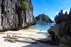 El Nido,菲律宾海滩  免版税库存照片
