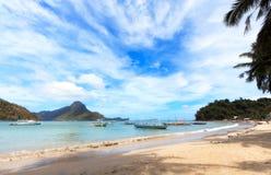 El Nido海滩 免版税库存图片