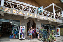 El Nido Artcafe & butik fotografia royalty free