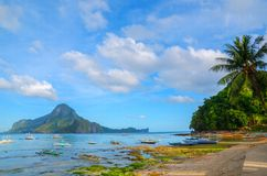 El Nido Bay. The Beautiful El Nido bay in Palawan Phillippines stock photos