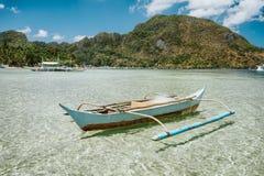 Free El Nido Bay. Palawan Island, Philippines. Filippino Fishing Boat In Shallow Water Lagoon. Exotic Travel Destination Royalty Free Stock Photos - 177318728