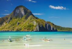 El Nido bay, Philippines. El Nido bay and Cadlao island, Palawan, Philippines royalty free stock photo