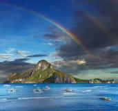 El Nido bay, Philippines. El Nido bay and Cadlao island, Palawan, Philippines royalty free stock image