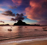 El Nido bay, sunset, Philippines Stock Photography