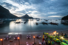 El Nido beach bars, Palawan Stock Photography