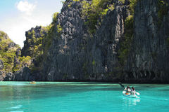 El nido kayak adventure holiday philippines Royalty Free Stock Photo