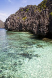 El Nido lagoon. One of the most scenic area in southeast asia : El Nido in Palawan archipelago, Philippines stock photo