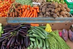 El Nido market. Local vegetables market in El Nido, Palawan, Philippines. Colorful veggies royalty free stock image